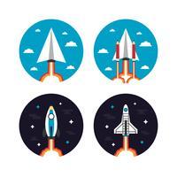 ícone do conceito de foguete