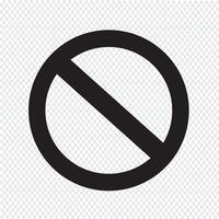 ícone de símbolo de proibição em branco