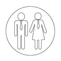 homem e mulher ícone de pessoas vetor