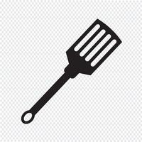 ícone de espátula de cozinha vetor