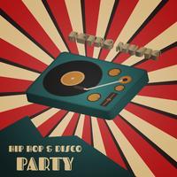 cartaz do partido do hip-hop