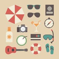 equipamento de viagem de verão