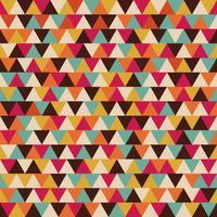 padrão sem emenda de triângulo retrô vetor