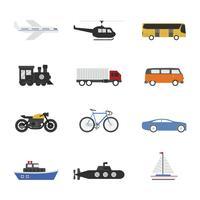 conjunto de ícones de veículo vetor