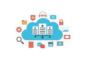 mídia do servidor de nuvem
