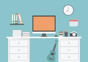 espaço de trabalho de freelancer vetor