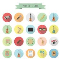 ícone de música retrô vetor