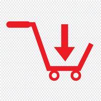 comprar carrinho de compras ícone símbolo ilustração design vetor