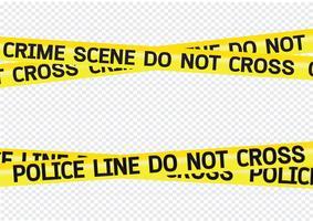 Ilustração de fitas de perigo de cena de crime vetor