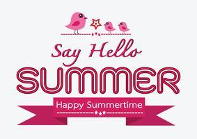 Cartão de desenho de ideia de conceito de verão vetor