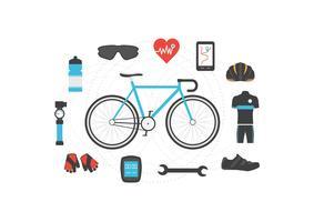 ícone de acessórios de bicicleta vetor