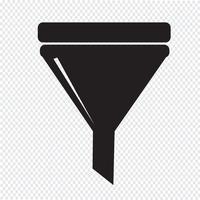 sinal de símbolo de ícone de filtro vetor