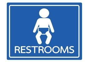 Pictograma ícones de banheiro de criança vetor