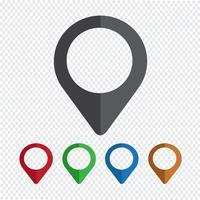 ícone de pinos de mapeamento vetor