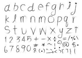 Fonte de mão desenhada letras vetor