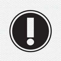 Sinal de símbolo de ícone de alerta vetor