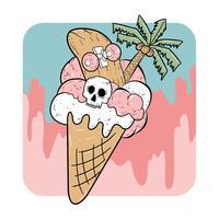 sorvete de verão o dia das bruxas vetor