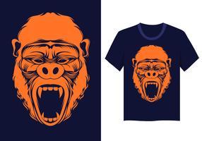 Vetor de cara de gorila