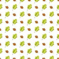 Padrão sem emenda com folhas de outono coloridas.