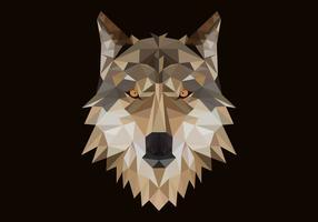 ilustração em vetor cabeça poligonal lobo