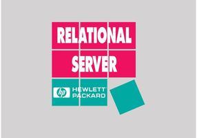 Logotipo da Hewlett Packard vetor