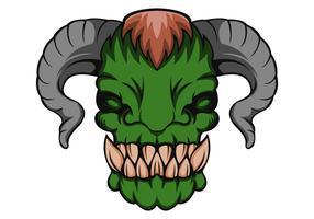 Ilustração em vetor Orc monstro cabeça