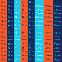 Pacote de vetores de hiragana