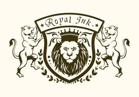 logotipo do leão de tinta real vetor