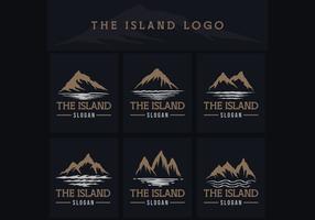 ilustração em vetor logotipo ilha