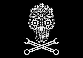logotipo automotivo do crânio vetor