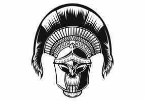 logotipo do crânio espartano vetor