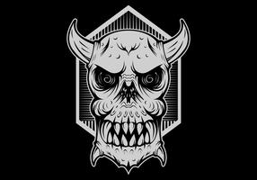 cabeça do mal monstro do crânio vetor