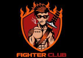 clube de lutador vetor