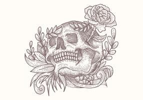 ilustração em vetor crânio decoração