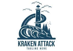 ilustração vetorial de ataque kraken