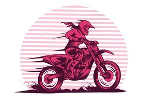 senhora rápido motocross vetor