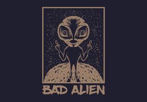ilustração vetorial alienígena ruim vetor