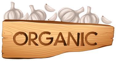 Sinal Orgânico e Alho vetor