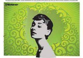 Vetor de Audrey Hepburn