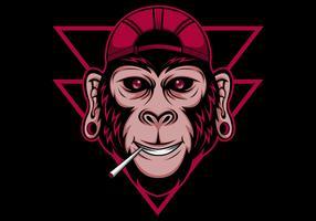ilustração vetorial legal de chimpanzé vetor