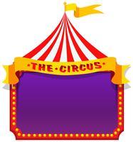 Um circo no modelo de nota vetor