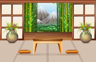 Sala de estar em estilo japonês vetor