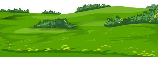 Uma cena de jardim simples vetor