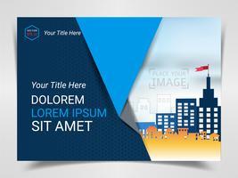 Modelo pronto para publicidade impressa, design de tamanho A4 para layout de apresentação de marketing da empresa e design de capas.