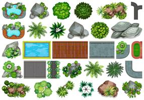 Conjunto de jardim para decoração vetor