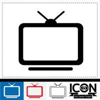 sinal de símbolo de ícone de tv vetor