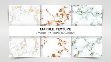 Textura de mármore, conjunto Premium de vetor padrões coleção.