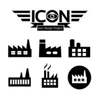 sinal de símbolo de ícone de fábrica vetor