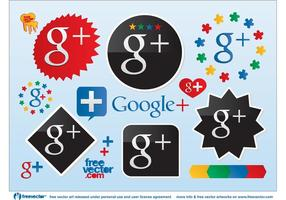 Logotipos de vetor do google plus