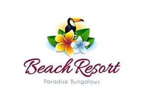 Logotipo do resort de praia vetor